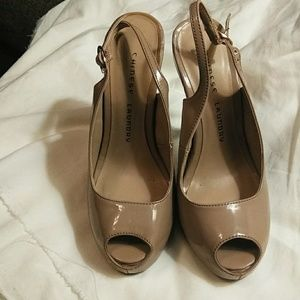 Taupe heels size 6